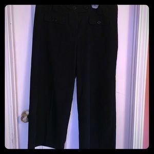 Black Full Leg Cropped Pants 16